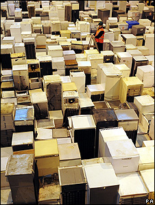 Pile of fridges (Image: PA)