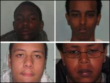 Clockwise from top left: O'Neil Denton, Weiled Ibrahim, Yusuf Raymond, Jayden Ryan