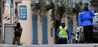 Operativo policial en Francia