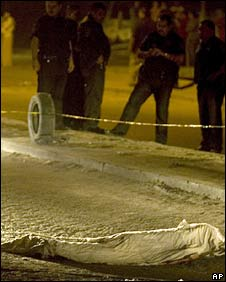 A man lies dead after a shootout in Tijuana on 17 November