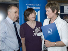 John and Sue Day with Joyce Watson AM at the Senedd (picture: Parkinson's Disease Society)