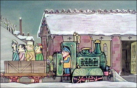 Ivor the Engine in black and white. Courtesy Smallfilms