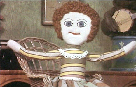 Madeleine the rag doll, from Bagpuss. Courtesy Smallfilms
