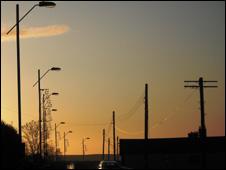 Street lights in Torfaen