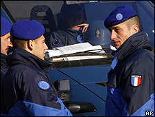 French Eulex police in Kosovo, 9 Dec 08