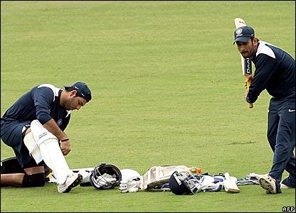 Yuvraj Singh and Mahendra Dhoni