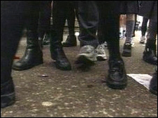 School pupil's feet (generic)