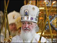 Митрополит Кирилл на церемонии прощания с патриархом Алексием II 9 декабря