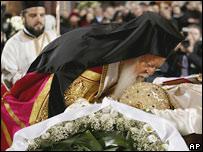 Константинопольский патриарх Варфоломей на похоронах Патриарха Московского и всея Руси Алексия