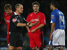 Chesterfield's Jack Lester (right) scored a controversial goal