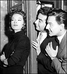 Lisa Gastoni, Denis Goodwin and Bob Monkhouse in 1958