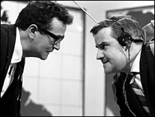 Michael Bentine and Ronnie Barker in 1963
