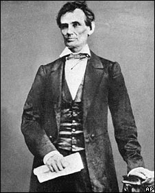 Abraham Lincoln, in an undated photo