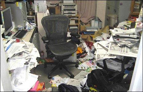 Mark Schreiber's office in Tokyo