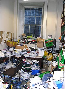 Alan Barr's office at the University of Edinburgh Law School