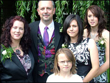 Mike Kirkham-Jones and family