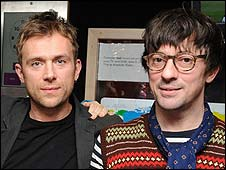 Damon Albarn and Graham Coxon of Blur