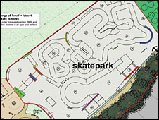 Saughton skateboard park plans