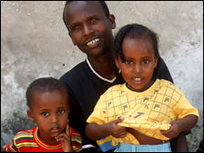 Abdulahi Husein Aboti, his daughters and one of his sons