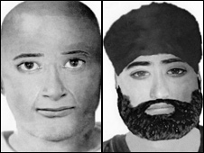 E-fits of the two men, based on PC Johal's description