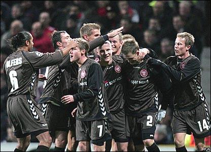 Aab Aalborg celebrate