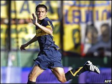 Juan Roman Riquelme of First Division team Boca Juniors