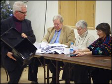 Sark election count