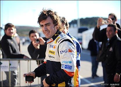 Double world champion Fernando Alnoso