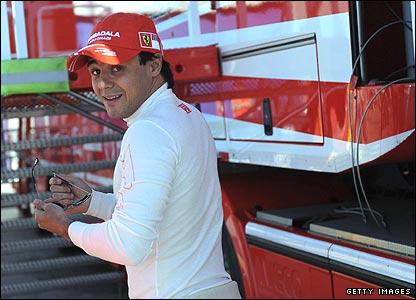 Felipe Massa at testing in Jerez