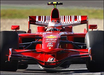 Kimi Raikkonen in the Ferrari at winter testing in Jerez
