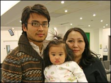 Janet, daughter Sarah and partner James Edralin