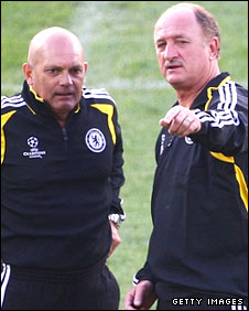 Ray Wilkins and Luiz Felipe Scolari