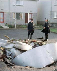 Lockerbie wreckage