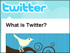 Screenshot of Twitter home page, Twitter