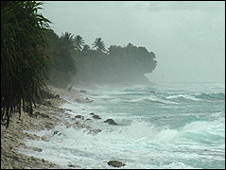 'King tide' on Tuvalu (Image: BBC)