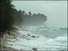 'King tide' on Tuvalu (Image: BBC)