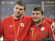 Belarus hammer throwers Vadim Devyatovskiy and Ivan Tsikhan