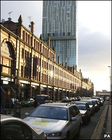 Traffic on Deansgate, Manchester