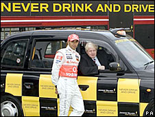 Lewis Hamilton and Boris Johnson