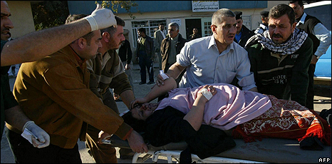 Woman injured in Kirkuk bombing - 11 December 2008
