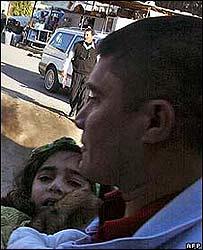 Niña herida durante el atentado en Kirkuk