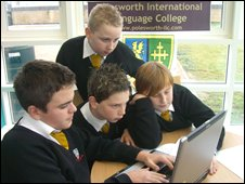 School Reporters at  Polesworth International Language College in Tamworth, Staffordshire
