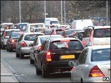 Traffic on Princess Parkway, Manchester
