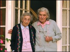 Joyce Burden and her sister Sybil Burden