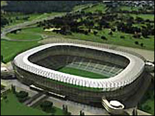 An artist's impression of the FNB stadium in Soweto