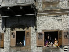 Women in Srinagar houses