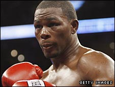 Taylor beat Jeff Lacy in a WBC super-middleweight title eliminator