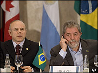 Guido Mantega y  Luiz In�cio Lula da Silva