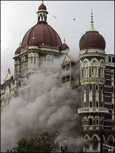 The Taj Mahal hotel during Mumbai attacks