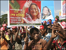 Awami League supporters